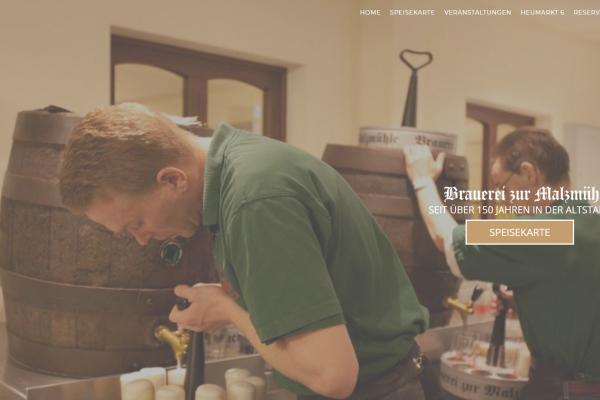 Brauerei zur Malzmühle Internetseite von Picnature