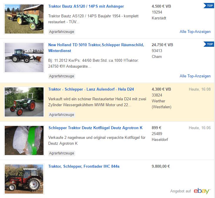Promotionen bei Ebay (Top-Anzeigen)